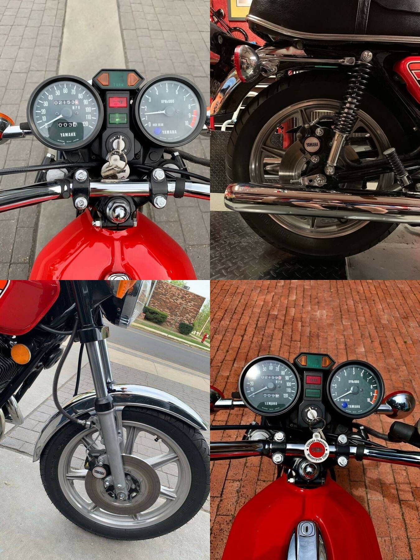 1976 Yamaha RD400C Red used for sale craigslist