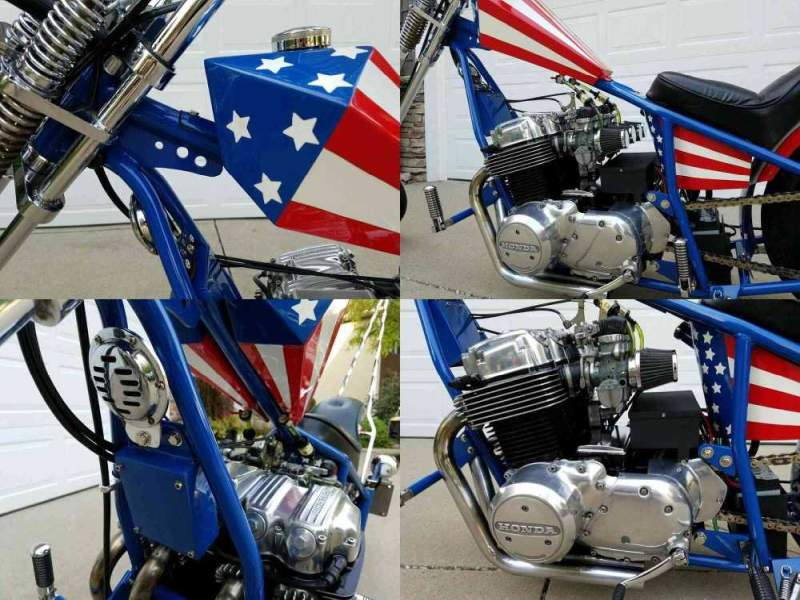 1978 Custom Built Motorcycles Chopper Red, White & Blue used for sale craigslist