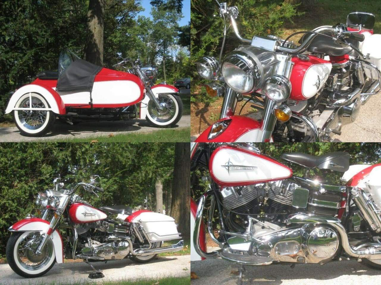 1984 Harley-Davidson Touring Red and white used for sale craigslist
