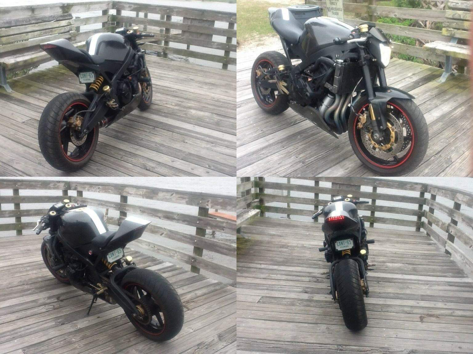 1993 Custom Built Motorcycles Honda CBR600f2 agressor Black/carbon fiber/red/white used for sale craigslist