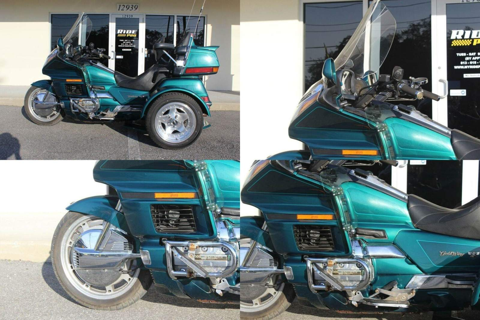 1996 Honda Gold Wing Removable Trike Kit Green used for sale