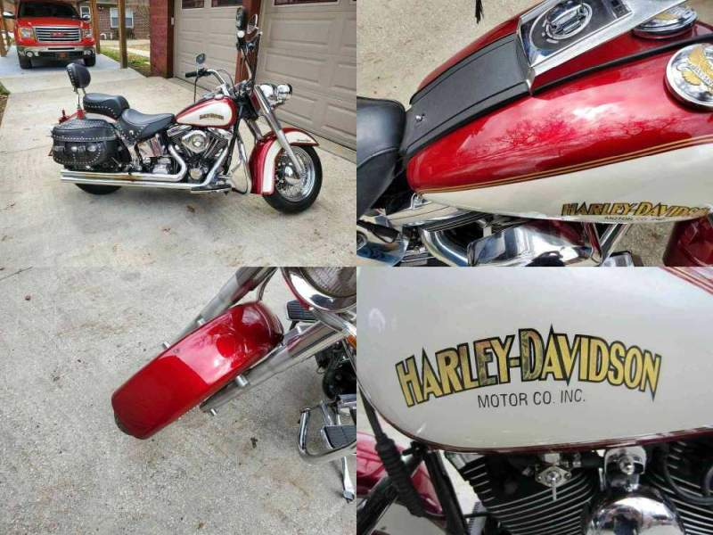1999 Harley-Davidson Softail Burgundy used for sale