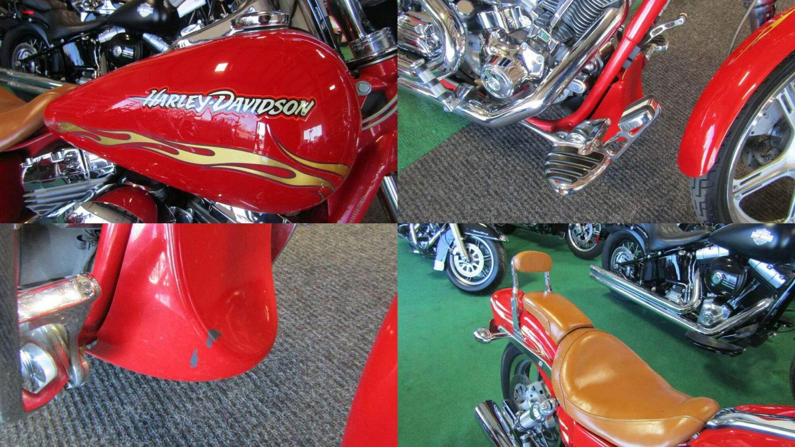 2001 Harley-Davidson DYNA WIDE GLIDE SCREAMIN' EAGLE RED w 23k GOLD FLAMES used for sale