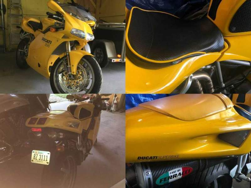 2002 Ducati 998 Superbike yellow used for sale craigslist