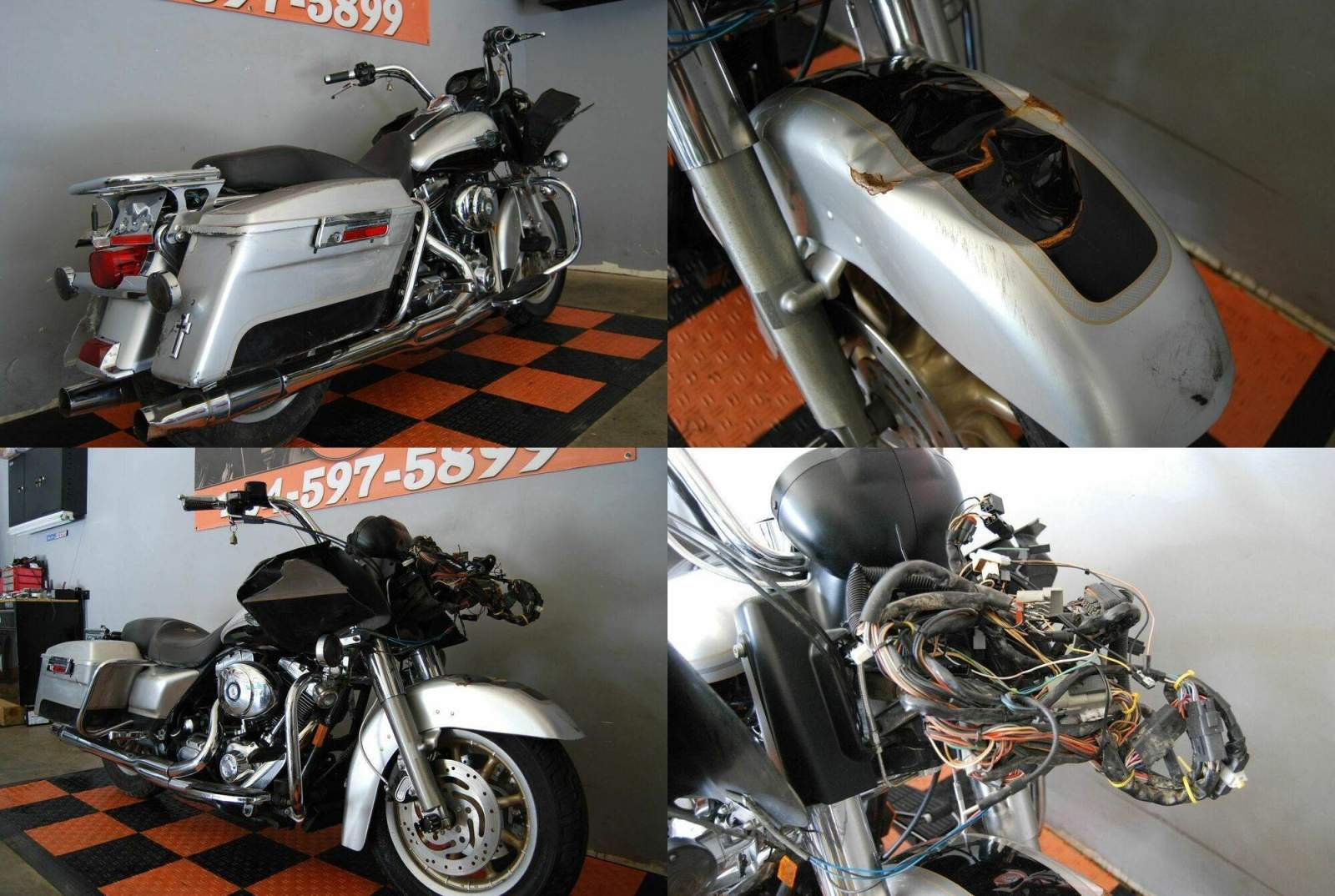 2003 Harley-Davidson Touring Silver used for sale craigslist