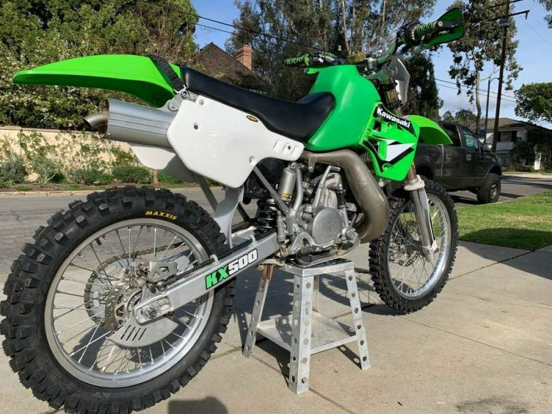 2003 Kawasaki KX Green used for sale