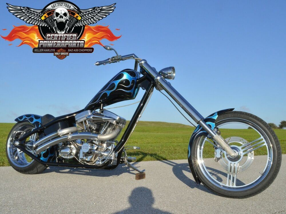 2004 Custom Built Motorcycles EDDIE TROTTA THUNDER CYCLE CHOPPER FREE SHIPPING Custom Paint Job by Bones used for sale craigslist