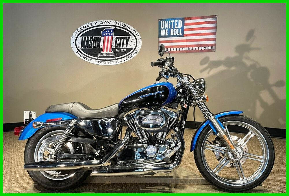 2004 Harley-Davidson Sportster 1200 Custom Impact Blue & Vivid Black used for sale