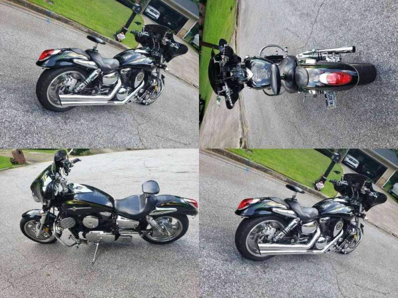 2004 Kawasaki 1600 Vulcan Meanstreet Black used for sale
