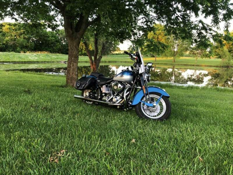 2005 Harley-Davidson Softail Blue used for sale