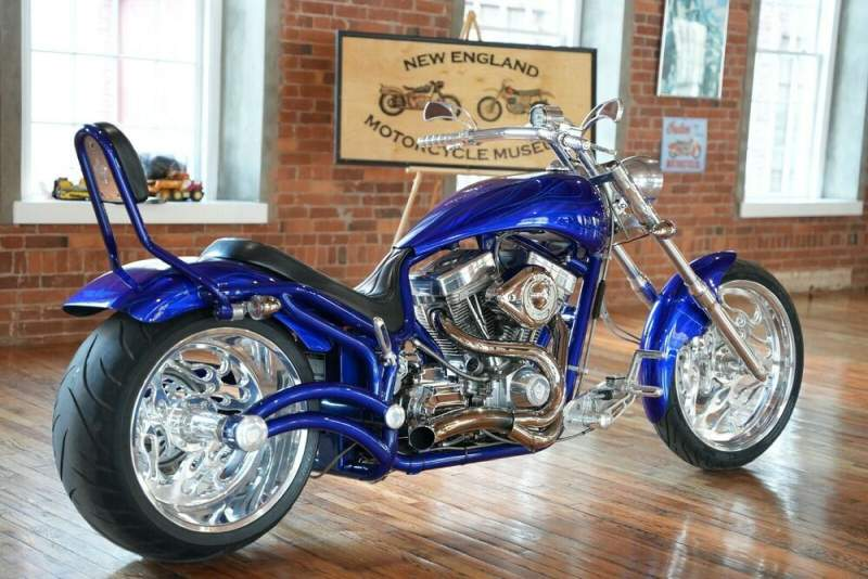 2006 Bourget FAT DADDY SOFTAIL 300 Cobalt Blue With Dual Ghost Flames used for sale craigslist