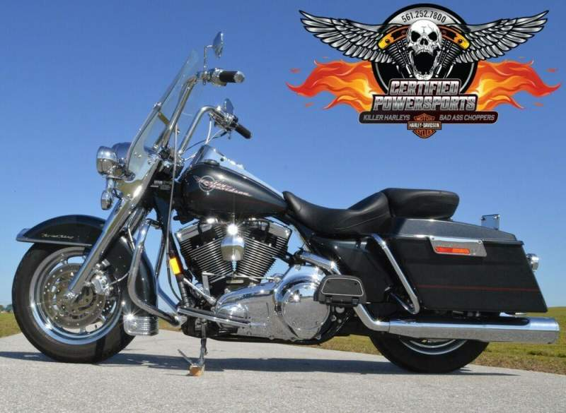 2007 Harley-Davidson ROAD KING 103 SCREAMIN EAGLE Many Extras Ex Cond Gun Metal Grey Pearl used for sale