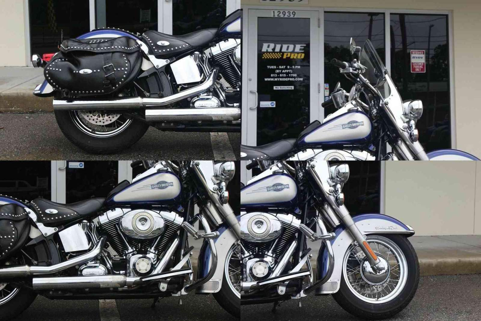 2007 Harley-Davidson Softail Heritage Softail® Classic Colbalt Blue/Pewter Pearl used for sale