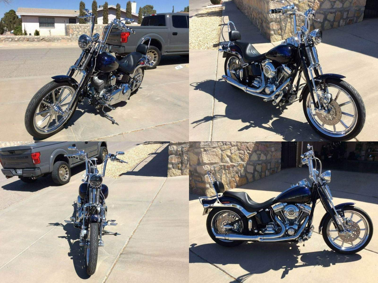 2007 Harley-Davidson Softail Blue used for sale