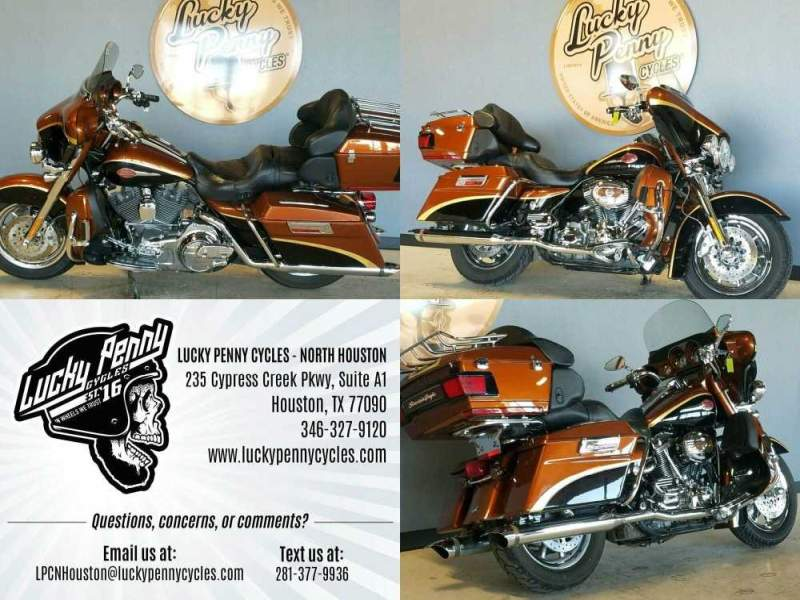 2008 Harley-Davidson FLHTCUSE ELTRA GLIDE ULTRA CLASSIC CVO BRONZE COPPER used for sale craigslist