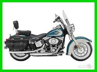 2009 Harley-Davidson Softail FLSTC Heritage Classic Two-Tone Deep Turquoise / Antique White used for sale