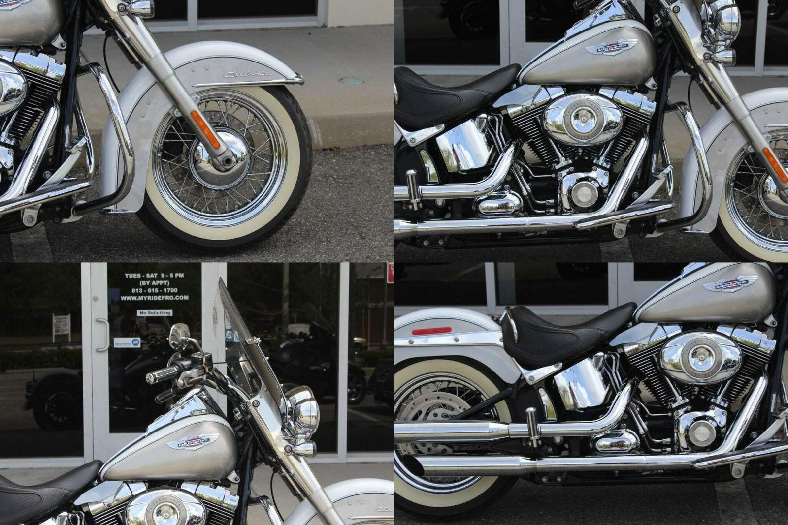 2009 Harley-Davidson Softail Softail® Deluxe WHITE/PEWTER PEARL used for sale craigslist