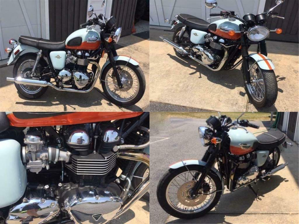 2009 Triumph Bonneville Blue used for sale craigslist