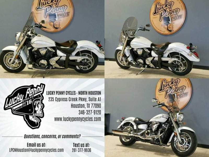 2009 Yamaha VSTAR 1300 White used for sale craigslist
