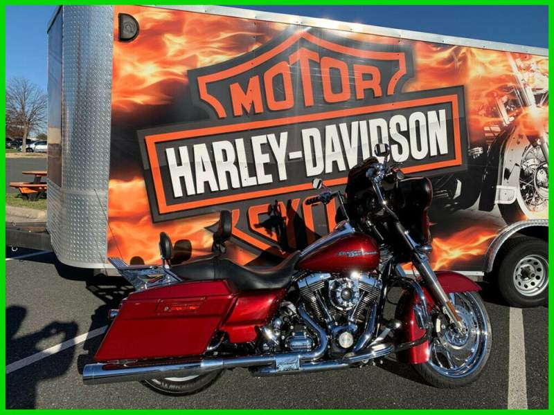 2010 Harley-Davidson Touring Street Glide Red Hot Sunglo used for sale craigslist