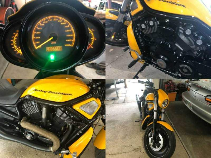 2011 Harley-Davidson V-ROD Night Rod Special Chrome Yellow / Black Racing Stripe with Ghost Fla used for sale craigslist