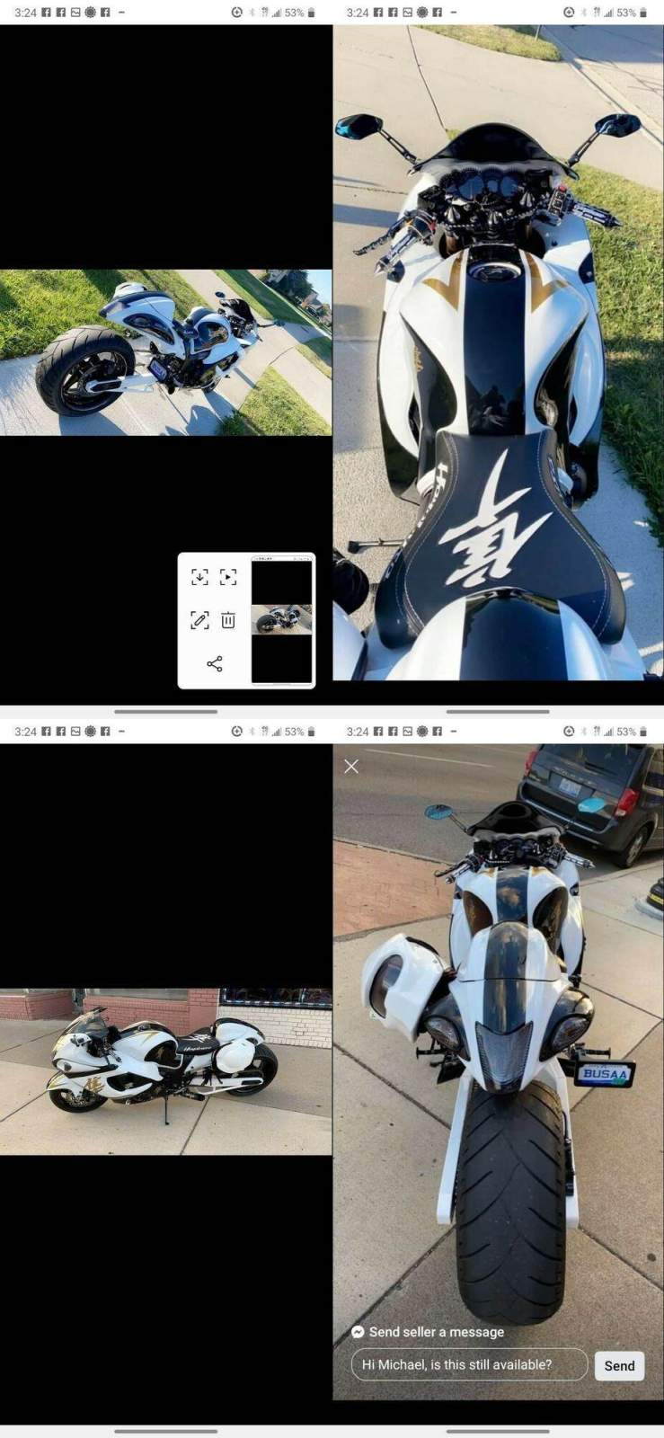 2011 Suzuki Custom Hayabusa White used for sale