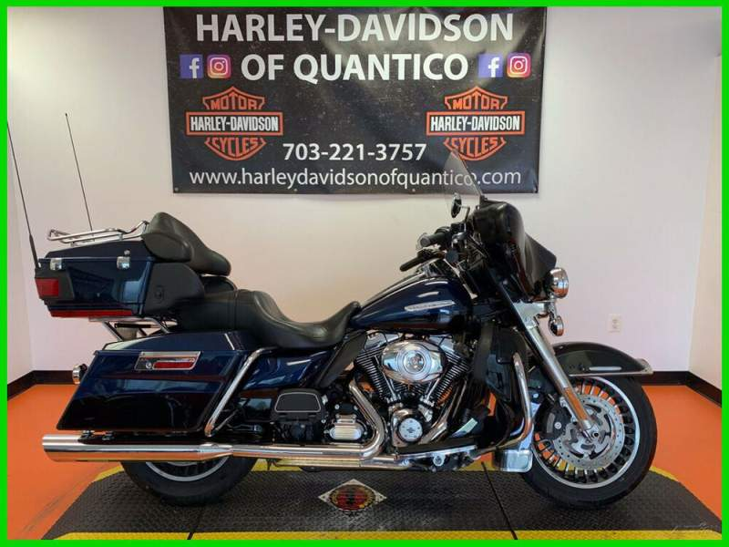 2012 Harley-Davidson Touring Electra Glide Ultra Limited Two-tone Big Blue Pearl / Vivid Black used for sale