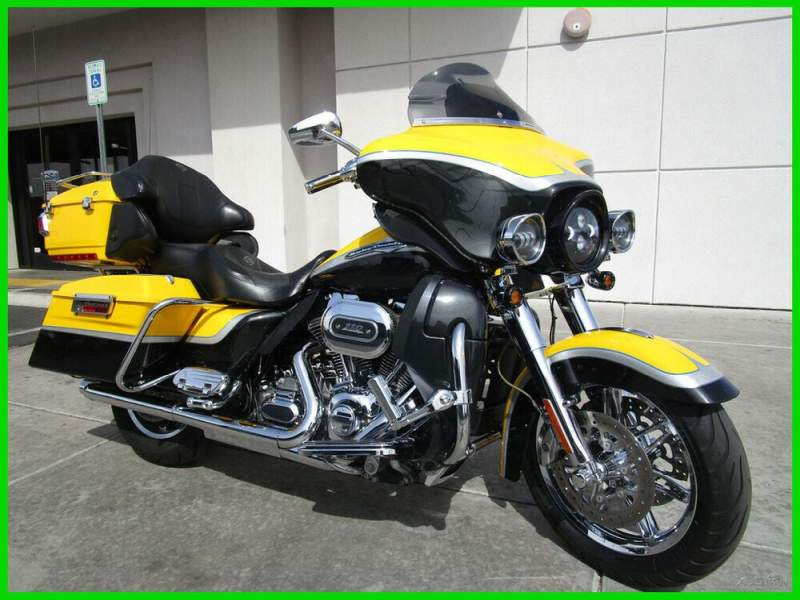 2012 Harley-Davidson Touring FLHTCUSE7 CVO Ultra Classic Electra Glide Yellow used for sale