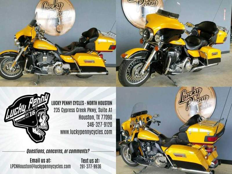 2013 Harley-Davidson Electra Glide Ultra Limited FLHTK Yellow used for sale craigslist
