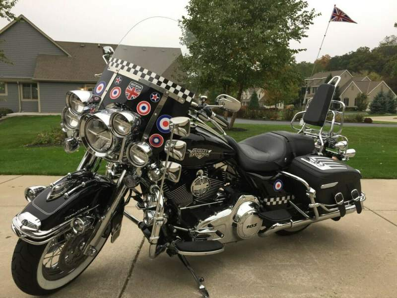 2013 Harley-Davidson London Mod Road King Classic Black used for sale
