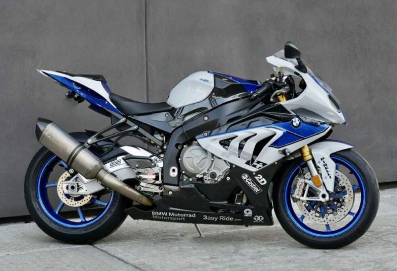 2014 BMW HP4 White Black Blue used for sale