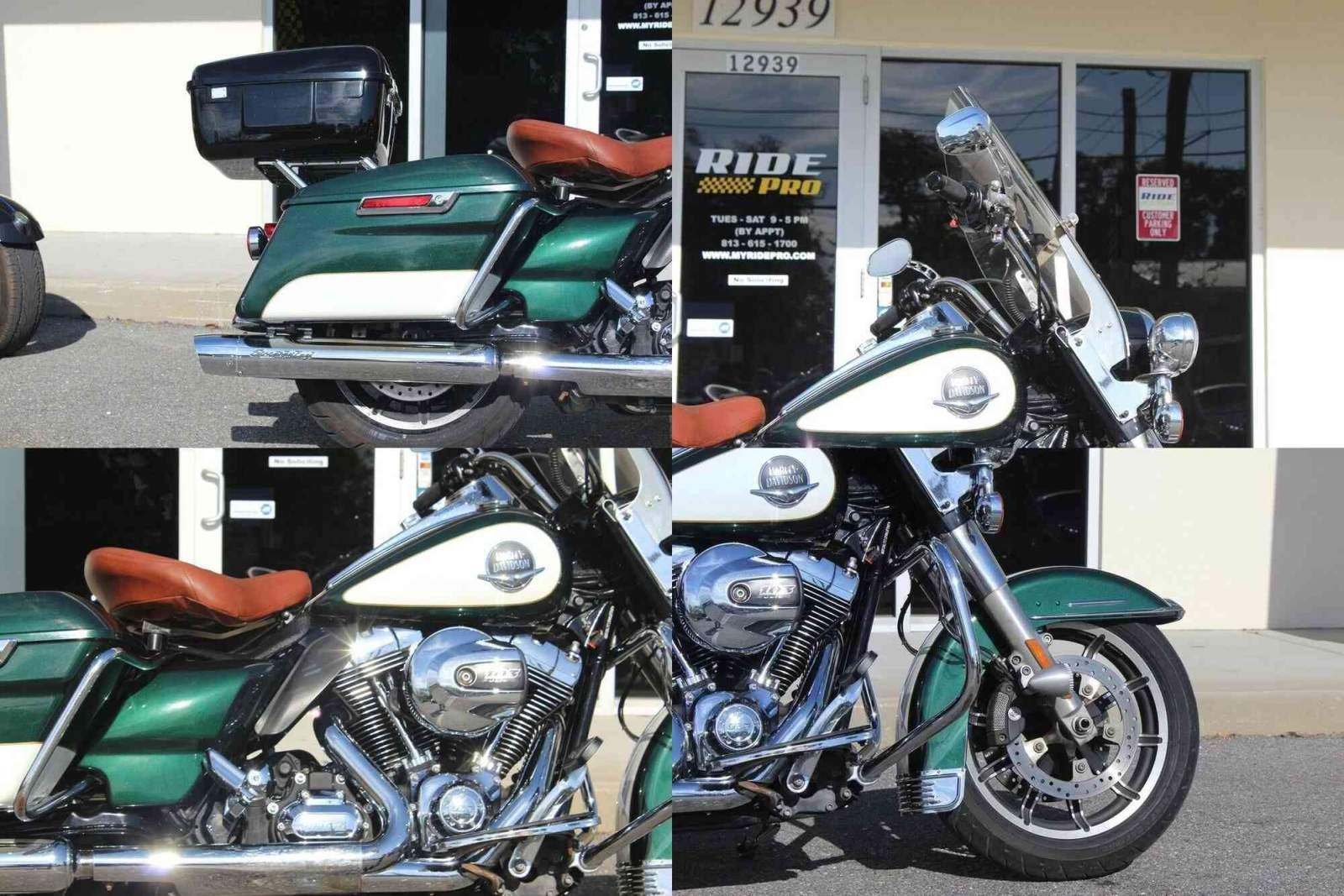 2014 Harley-Davidson Touring Road King® Green/White used for sale