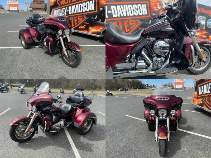 2014 Harley-Davidson Trike Tri Glide Ultra Mysterious Red Sunglo / Blackened Cayenne Sunglo used for sale craigslist