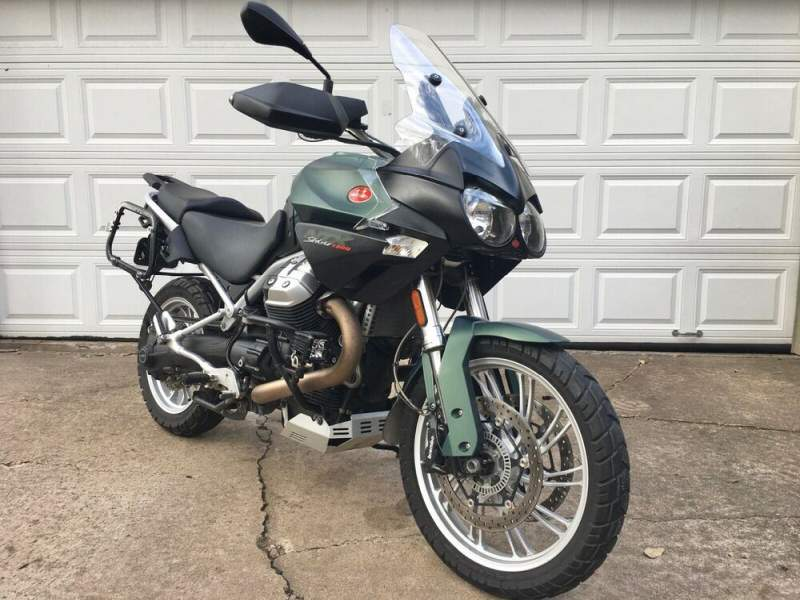 2014 Moto Guzzi Stelvio 1200 NTX Green used for sale craigslist