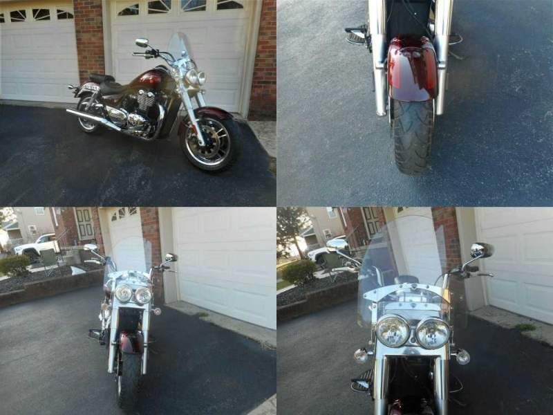 2014 Triumph Thunderbird Red used for sale craigslist