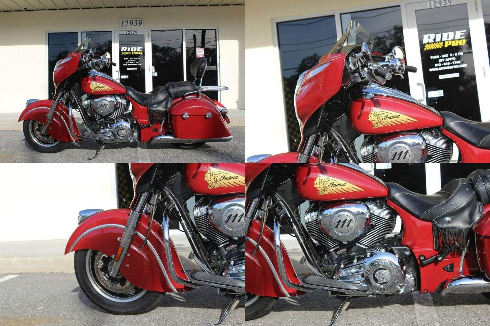 2015 Indian Chieftain Red used for sale