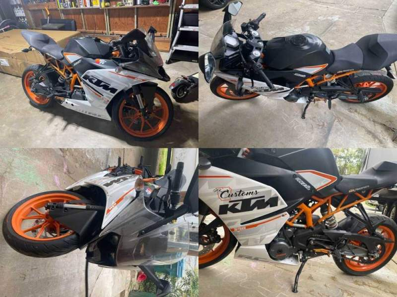 2015 KTM 390RC Orange used for sale