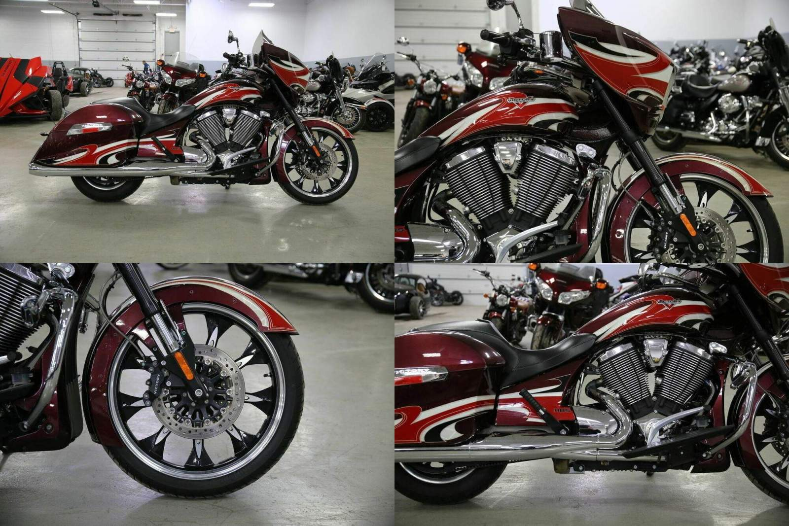 2015 Victory Magnum Ness Midnight Cherry Red used for sale craigslist