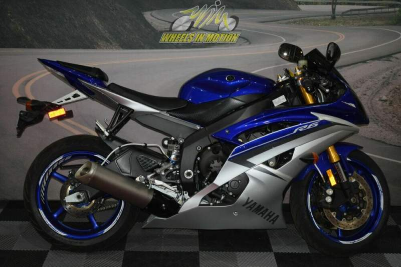 2015 Yamaha YZF-R6 Team Yamaha Blue/Matte Silver Blue used for sale craigslist