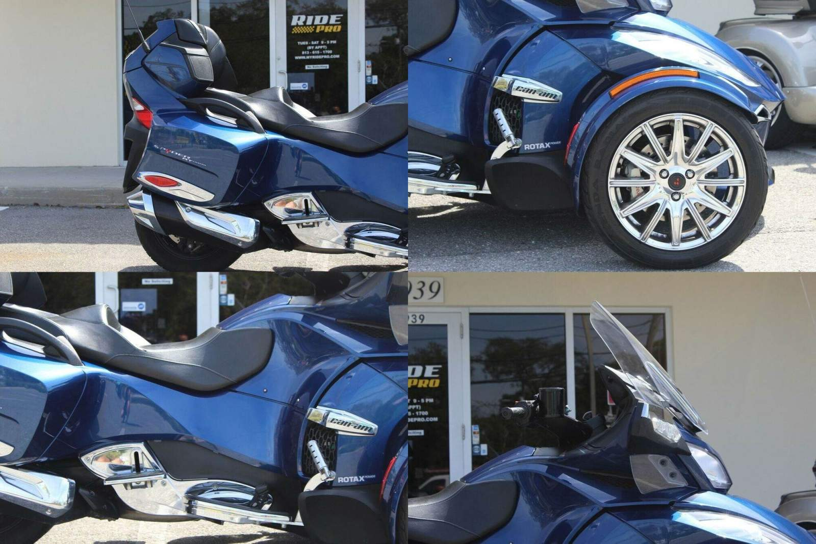 2016 Can-Am Spyder RT -Limited Blue used for sale craigslist