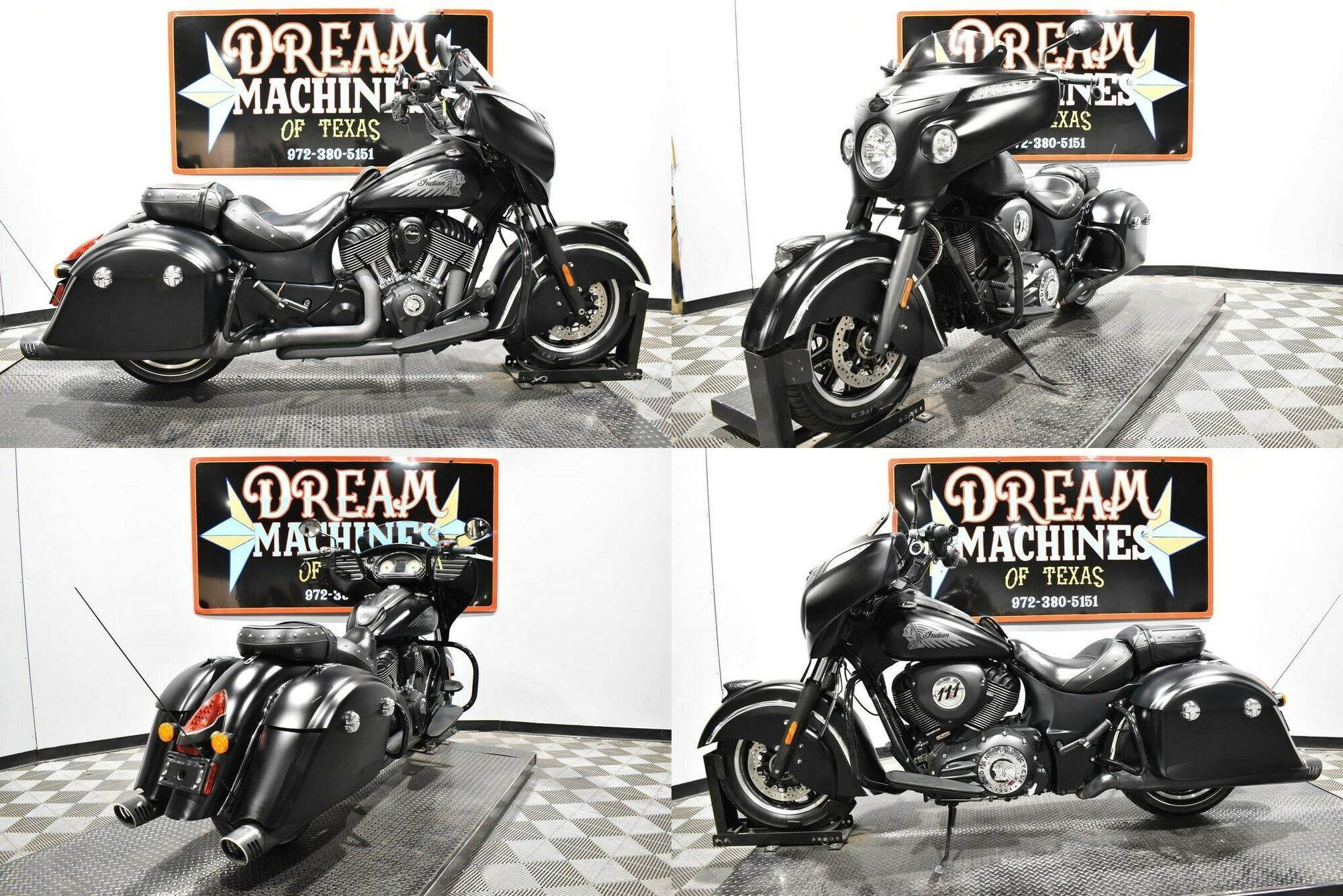 2016 Indian Chieftain Dark Horse Black used for sale