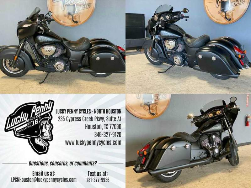 2016 Indian Chieftain Dark Horse Black used for sale craigslist