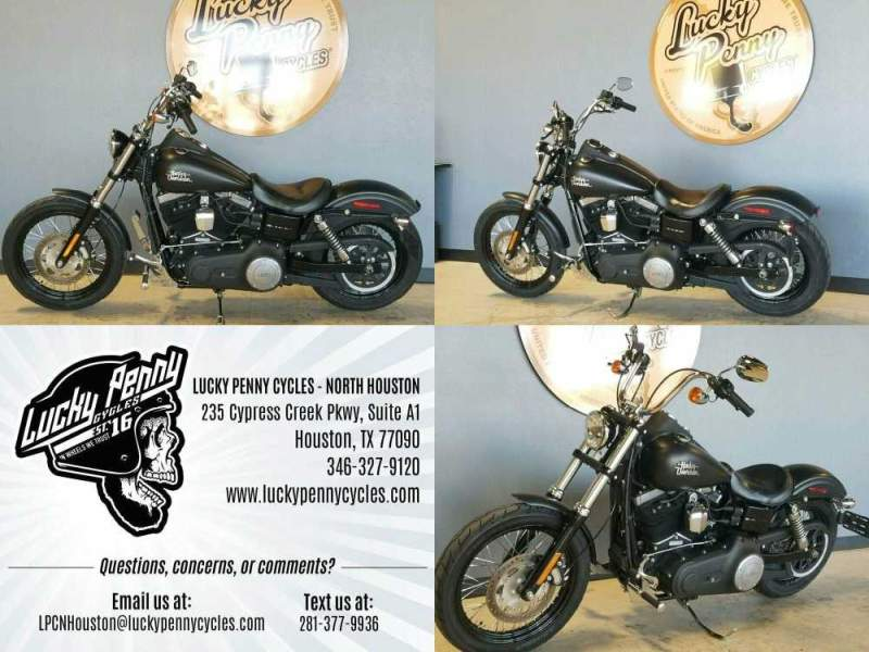 2017 Harley-Davidson Dyna Street Bob FXDB Black used for sale craigslist