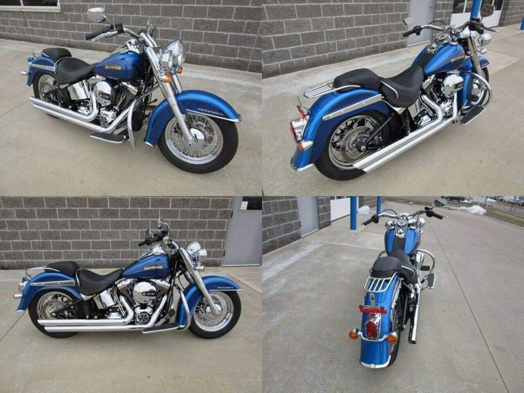 2017 Harley-Davidson Softail Deluxe Blue used for sale