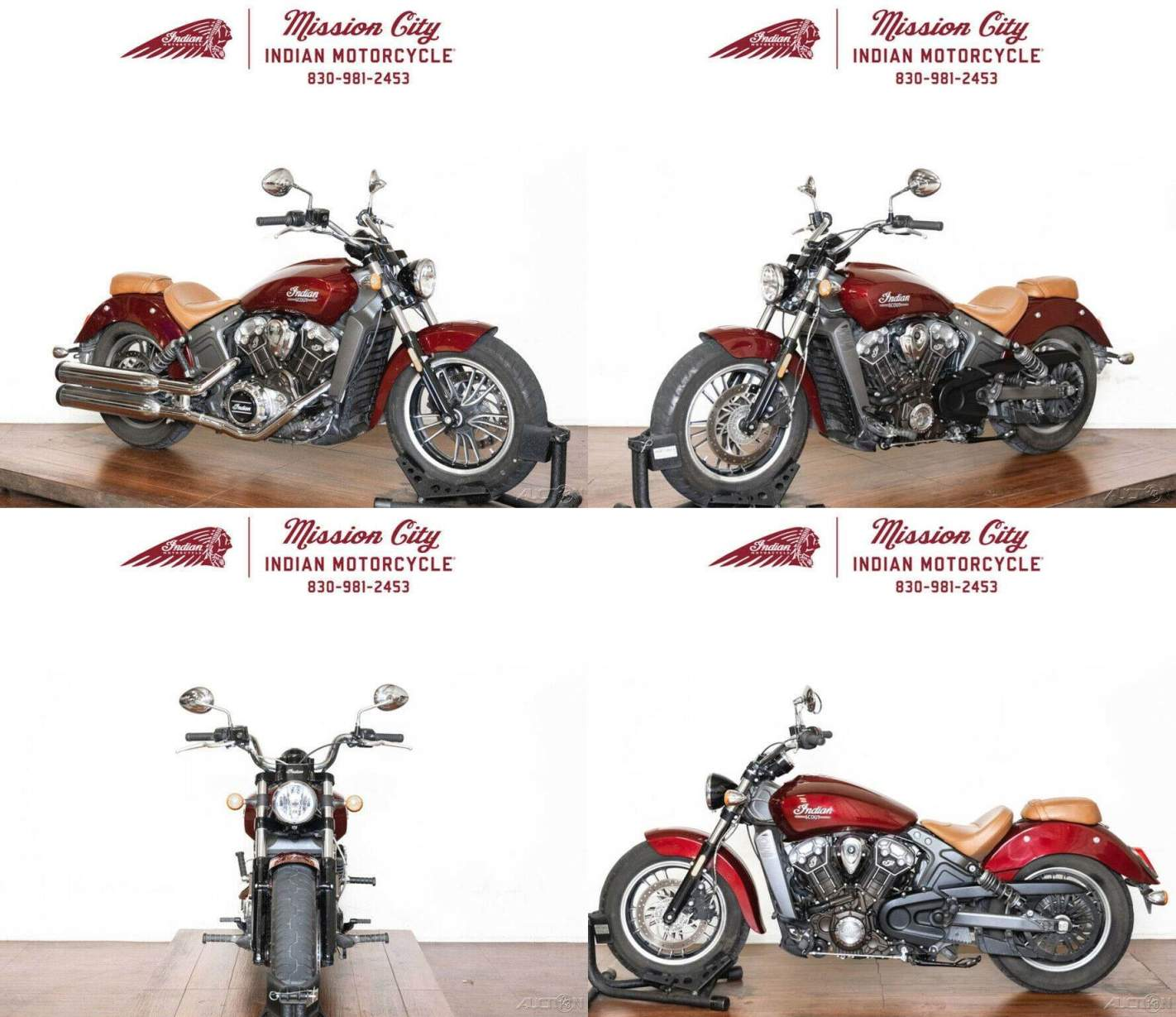 2017 Indian Scout ABS Burgundy Metallic Burgundy Metallic used for sale
