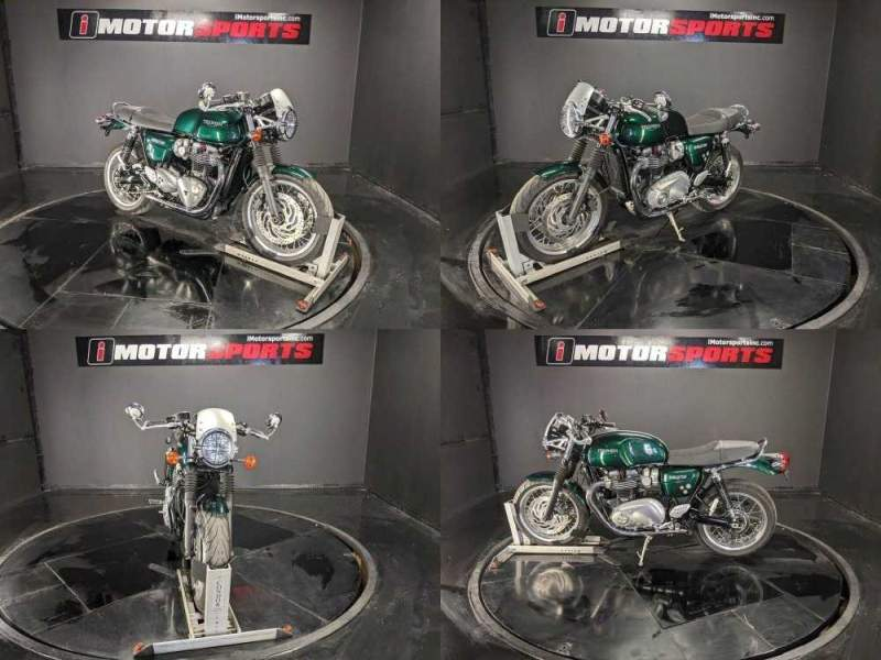 2017 Triumph Thruxton 1200 Competition Green w/ Gold Tank Strip Green used for sale