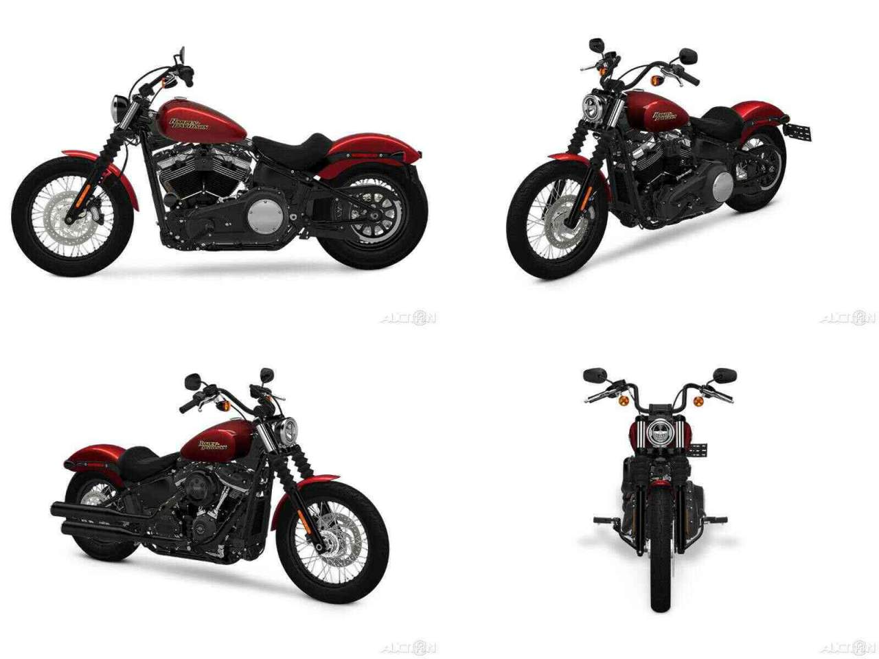 2018 Harley-Davidson Softail Street Bob 107 Wicked Red / Twisted Cherry used for sale