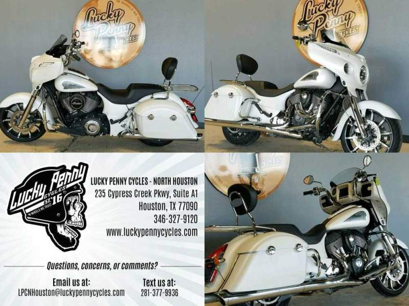2018 Indian Chieftain Limited White used for sale craigslist