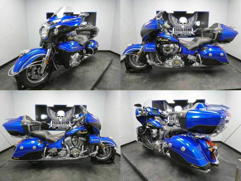2018 Indian Roadmaster Elite ABS Cobalt Candy Black Crystal w Black used for sale craigslist