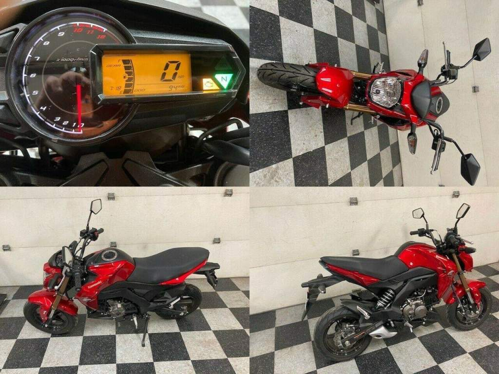 2018 Kawasaki Z125 Pro Red used for sale craigslist